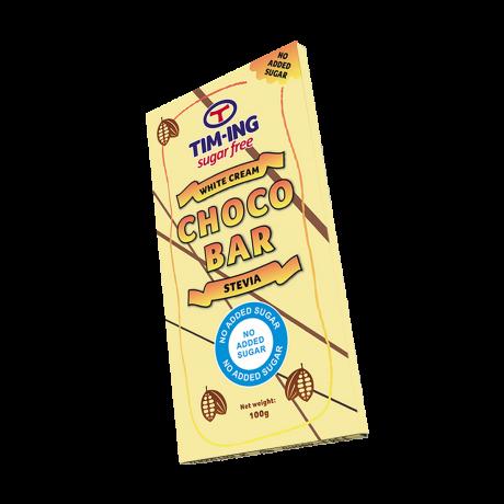 Choco Bar White Cream Stevia 100g no added sugar